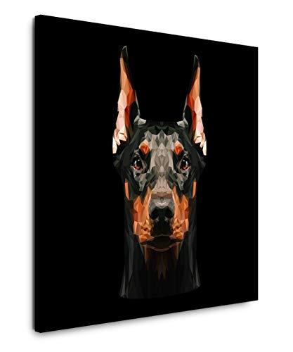EAUZONE GmbH Dobermann Hund 60x60cm Wandbild auf Leinwand, Kunstdruck Moderne Bilder