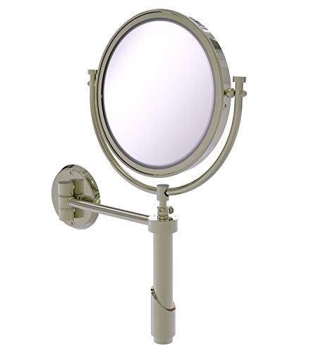 Allied Brass TRM-8/5X Tribecca Collection Wall Mounted 8 Inch Diameter with 5X Magnification Make-Up Mirror, Polished Nickel