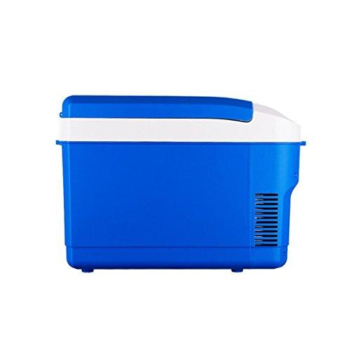 Li@ 10L 12V DC 220V AC Réfrigérateur à bord Réfrigération Chauffage dortoir voiture Voiture chaude et froide Famille Double usage Portable Réfrigérateur cabinet Taille externe: 42.5 * 22 * 31cm Tail