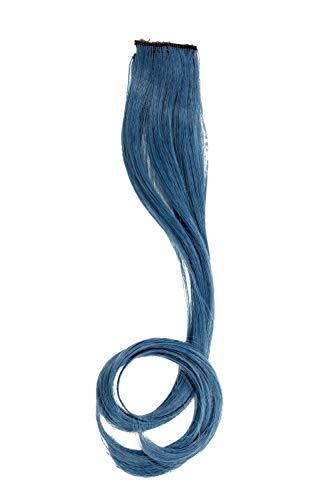WIG ME UP - YZF-P1C18-T2913 Extension 1 Clip-in mèche ondulée bleu cobalte 45 cm/ 18 inch