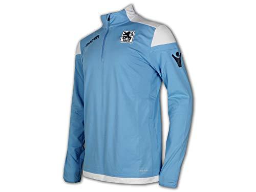 Macron TSV 1860 München Training Sweatshirt Löwen Sport Freizeit Shirt hellblau, Größe:XL