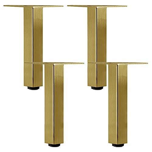 Pies para Muebles de Gris Metalizado, Patas para Mueble, Ajustables 0-6mm, para Mesa Sofá, Gabinete de TV, Armario de Escritorio, 4 Piezas (Size:10cm/3.9in)