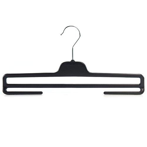 Hangerworld - Juego de 10 Perchas de plástico con Barra para Pantalones, 36 cm de Ancho, 34 cm de Ancho, Color Negro