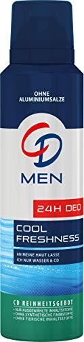 CD Deo Men Spray Kühle Frische – Deo Spray ohne Aluminium für 24 Std Schutz im Vorratspack – 6er Pack (6 x 150 ml)