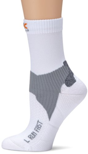 X-Socks Fast Chaussettes de course Homme, Blanc, 35-38