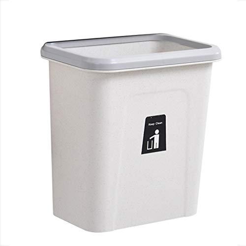 YANYAN Cubos de Basura Plástico Cocina Colgante Bote de Basura Gabinete de Cocina Puerta Colgante de Pared Sin Tapa Papelera Papelera Tazón Caja Papelera (tamaño : E)