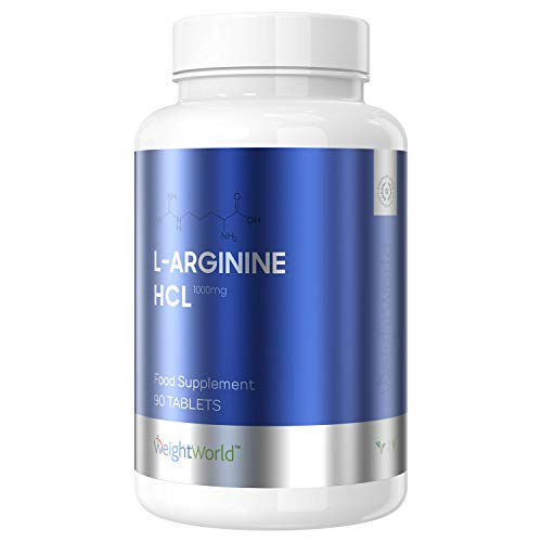 L Arginine Capsules Muscle Growth Supplements- 100% Pure L-Arginine Vegan & Vegetarian Capsules for Energy & Blood Circulation! 1000mg Power Booster Amino Acid Tablets for Men & Women- by WeightWorld