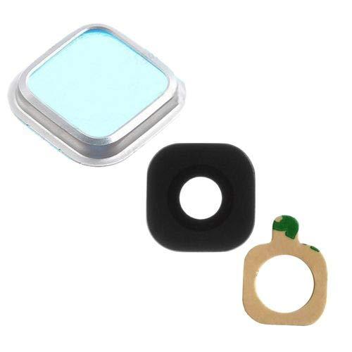 jbTec® Kamera-Linse mit Rahmen passend für Samsung Galaxy S5 / SM-G900 / GT-I9600 Neo/SM-G903 DUOS LTE/SM-G900FD - Silber/Schwarz - Kamera-Scheibe