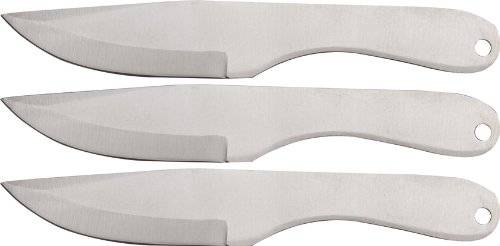 SZCO SUPPLIES 210954-3 Silver Shadow Knives (3-Piece)
