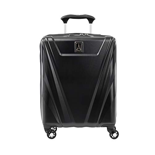 Travelpro Maxlite 5 Handgepäck Trolley Hartschale Spinner Koffer 4 Rollen 55x40x20 cm Erweiterbar und Langlebig mit TSA Schloss 39 Liter Polycarbonat Reisegepäck 5 Jahre Garantie