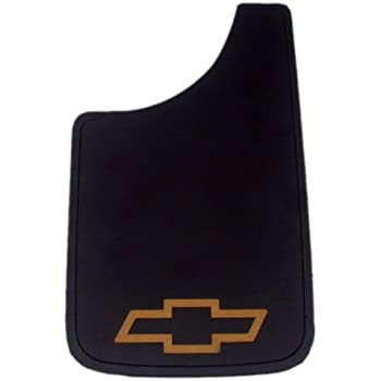 """Plasticolor Chevy Gold Bowtie Easy Fit Mud Guard 11"""" - Set of 2"""