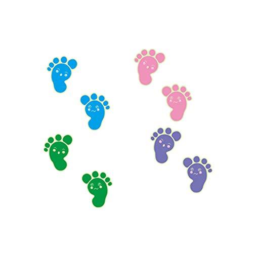 WYLYSD Weihnachtswandaufkleber Leuchtende Fußabdrücke Bodenaufkleber für Kinder Babyzimmer Badezimmer Bodendekoration Wohnkultur Abziehbilder Glow in The Dark Wandaufkleber