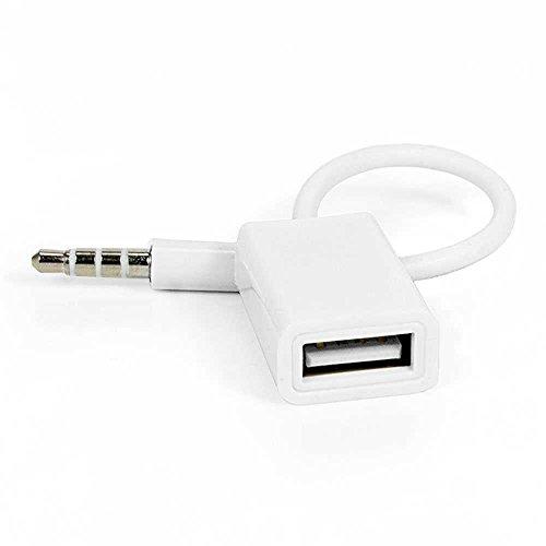 OcioDual Cable Audio de USB Hembra a Aux Jack Macho 3.5mm Ad