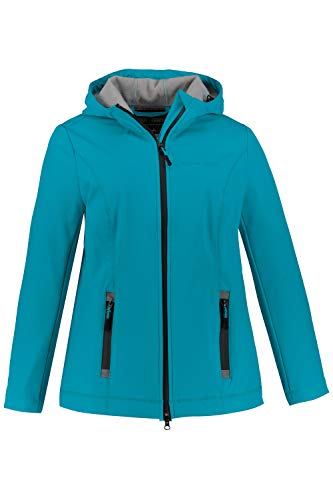Ulla Popken Damen große Größen Softshell-Jacke türkis 42/44 727151 73-42+