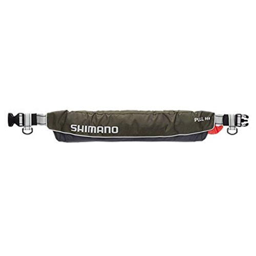 SHIMANO VF-052K Adult Self-Inflating Life Jacket, Fishing, Rafting, With Waist Belt, Certified in Japan for Safety