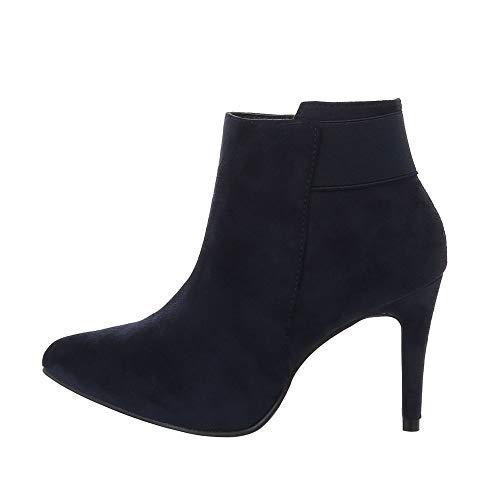 Ital-Design Damesschoenen High Heel Enkellaarsjes