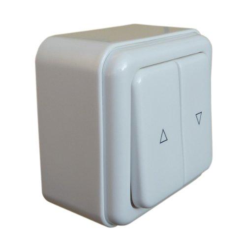 Rolladentaster/Flächendoppelwippe für Rollladen und Jalousie Aufputz AP + Aufputzdose