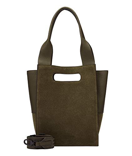 Liebeskind Berlin Olivia Tote, Small (30 cm x 22.5 cm x 12.5cm), umber green
