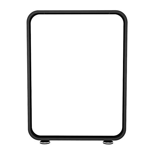 ZXL 1 Pack zwart/wit metalen tafelpoten, verstelbare eettafel benen, bar, bijzettafels been, industriële moderne, rechthoekig