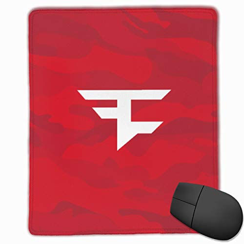 Faze Clan Red Team Mouse Pad, Used in Office, Laptop, Washable Game Non-Slip Rubber Mouse Padone Size