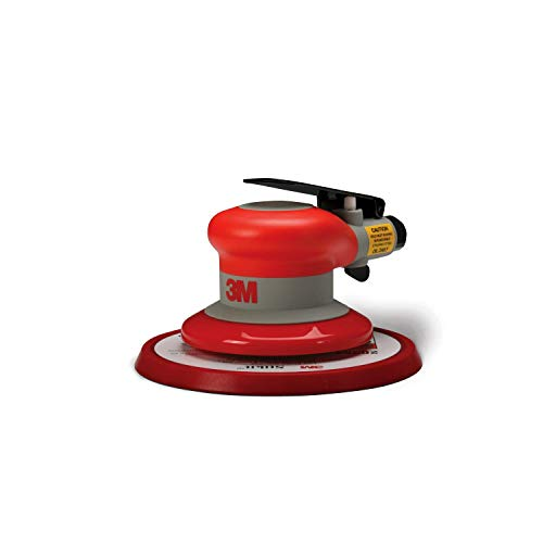 "3M Random Orbital Sander – Pneumatic Palm Sander – 6"" x 5/16"" Diam. Orbit – Stikit Disc Pad – For Wood, Composites, Metal – Original Series"