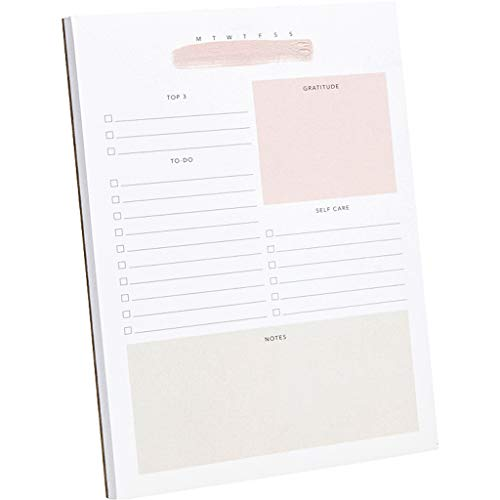 Lamare Daily To Do List Notepad � 50 Sheets Daily Planner Notepad I Gratitude, Self Care, Productivity Small Note Pads, for Student, Teacher, Business, Work - Undated, A5 size