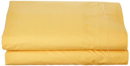 Essix Drap de lit uni, Coton, Jonquille, 240x300 cm