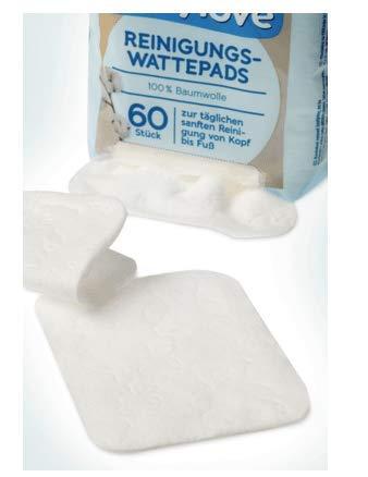 Baby Reinigungs-Wattepads - 8 x 60 St, 480 St - 100% Baumwolle