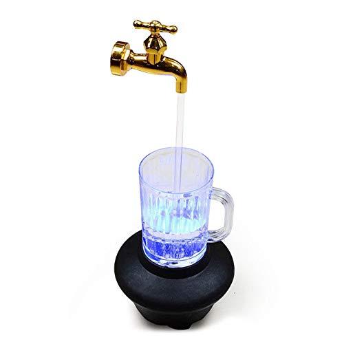 SURPRIZON Fuente de mesa para interior, taza mágica con luz LED, taza de cerveza iluminada para decoración de oficina en el hogar