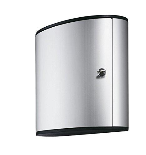 Durable Office Products Schlüsselkasten mit Schloss, 29,5 x 11,9 x 27,9 cm, 36 Schlüssel, Aluminium