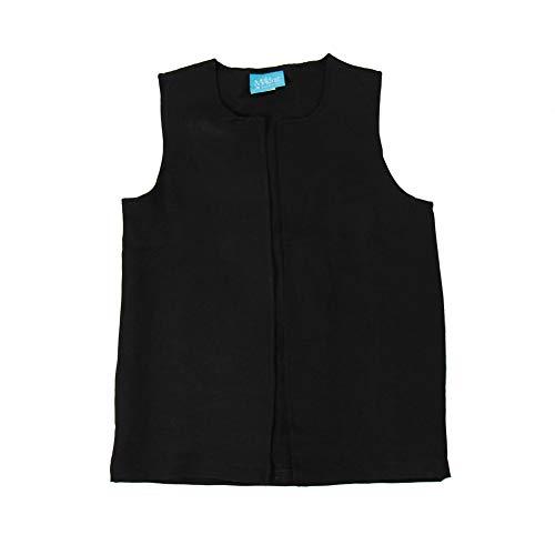 Boys Long Colonial Costume Vest (Boys Medium (8-10), Black)