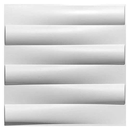 3D Wandpaneele Wasserdichtes Haltbare Textur Wandgestaltung, Für Wohnzimmer Schlafzimmer Hintergrund Wanddekoration (10Panels, Sub-Weiß)
