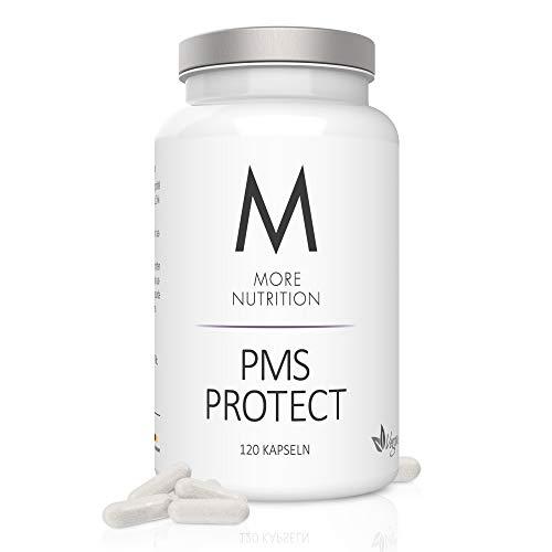 MORE NUTRITION PMS Protect - Vegane Frauen-Vitamine mit Mönchspfeffer-Extrakt - 120 Kapseln mit 20 mg Vitex Agnus-Castus, Eisen, Magnesium, Zink & L-Carnitin - Gegen Regelschmerzen & PMS Symptome