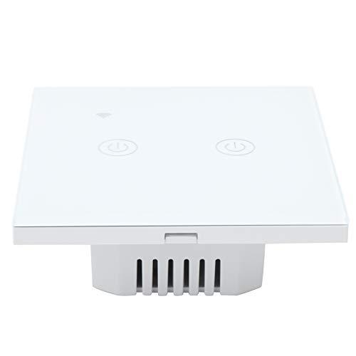DS ‑ 101‑2 Interruptor WiFi inteligente de 200‑240VAC, interruptor de luz Wi-Fi funciona con Alexa y Google Assistant, control remoto inalámbrico bidireccional para teléfono móvil