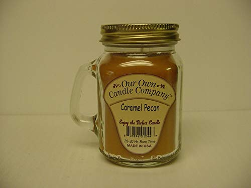 our own candle Company Carmel Pecan Candle, Small, Brown