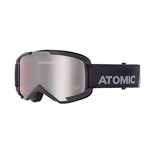 ATOMIC AN5105854, Maschera da Sci all-Mountain, Unisex, Medium Fit, Montatura Live Fit, Savor, Nero/Argento Flash