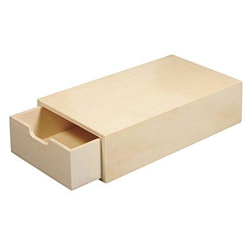 Rayher 62601000 Holz Schatulle, 20 x 10 x 5 cm,heraus ausziehbares Innenfach, Holzbox, Holzkasten, Stiftebox