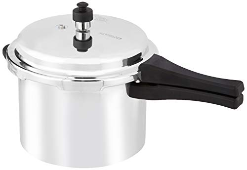 Amazon Brand - Solimo Aluminium Outer Lid Pressure Cooker, 5 L (Non-Induction Base)