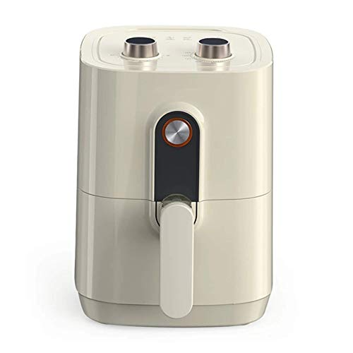 Freidora de aire, Horno sin Aceite de Inducción Cocina Perilla Mecánica 360° Circulación Calefacción antiadherente Cesta
