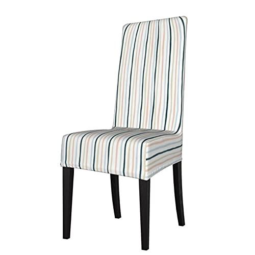 Fundas de silla para asiento de Shenanigans con rayas verticales blancas para el hogar, comedor, hotel, ceremonias, banquetes y bodas