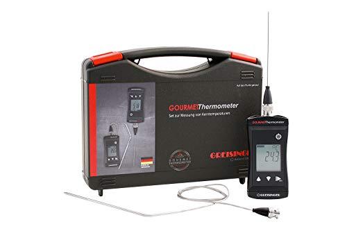 GHM Greisinger Bratenthermometer, Backthermometer, Grillthermometer, Gourmet-Thermometer-Set, Kunststoff, Schwarz, 12 x 5 x 4 cm