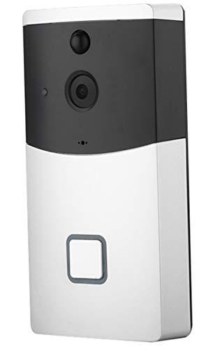ZHBD Timbre De Video Inalámbrico Alimentado por Batería, Timbre De Puerta con Cámara De Seguridad Full HD 1080P, WiFi 2.4G/Detección De Movimiento/IP65 A Prueba De Agua, Timbre Interior USB Incluido