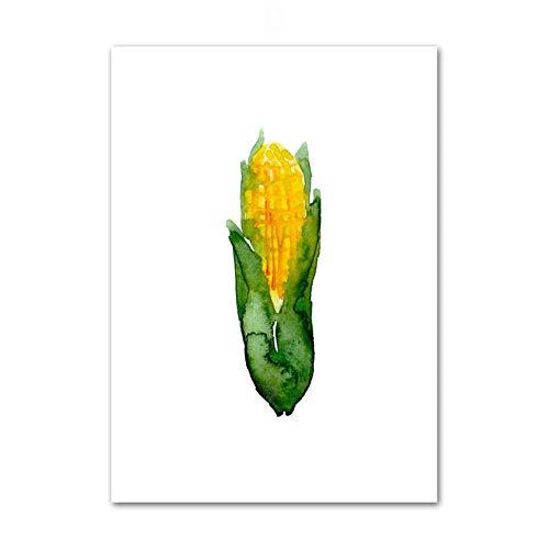 Wandkunstbild mit Bild von Gemüse und Lebensmitteln, Wandmalerei, frisches Plakat und Drucke, Moderne Heimdekoration, Wohnzimmer, Küche (kein Rahmen)