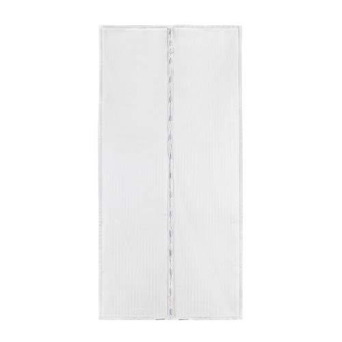 Sekey Magnet Fliegengitter Tür Vorhang für Holz, Eisen, Aluminium Türen und Balkon. Einfache Installation (220 x 100cm, Weiß)
