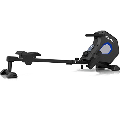Merax Magnetic Rowing Machine Foldable Exercise Rower Adjustable Resistance for Cardio