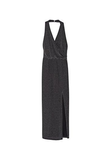 MANGO dames metalen jurk (zilver)