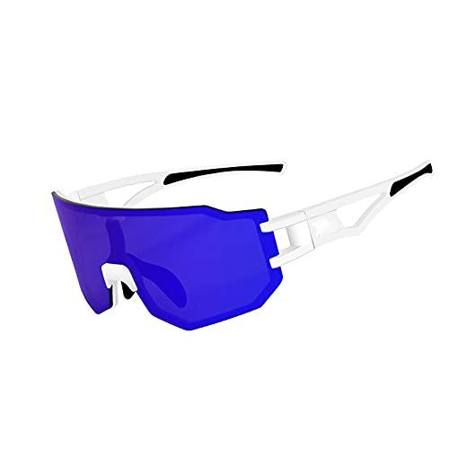 ROYWY Gafas de Ciclismo Gafas de Sol polarizadas con 3 Lentes Intercambiables Gafas de Sol de protección UV400, aptas para Hombres y Mujeres Bicicletas, conducción, Golf y Actividades al Aire l
