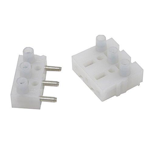 3 Stück - Steckverbinder 3-polig - Stecker- und Buchsenleisten - für Leitung 0,5 - 2,5 mm² - 400 Volt