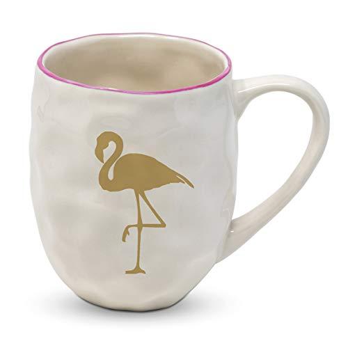 Home Collection Cuisine Vaisselle Accessoires Mug Grande Tasse Café Américain Motif Flamant Rose Doré