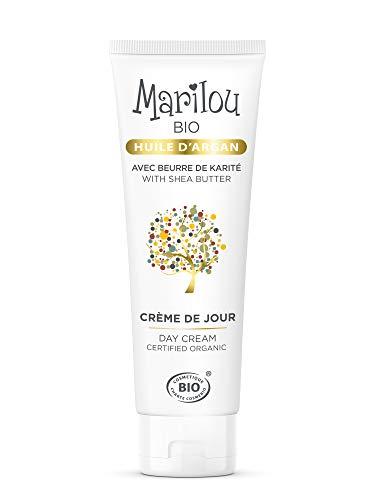 MARILOU BIO Crème de Jour à l'Huile d'Argan - Tube de 50 ml - Gamme Argan
